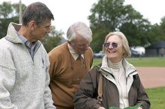 Filho adulto com pais do envelhecimento   Imagens de Stock Royalty Free