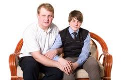 Filho do pai e do adolescente Fotografia de Stock Royalty Free