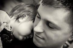 Filho do pai e do bebê Fotos de Stock Royalty Free