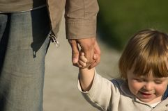 Filho e pai Imagem de Stock