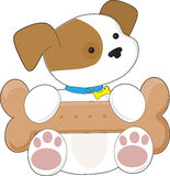Filhote de cachorro bonito com um petisco Fotos de Stock