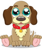 Filhote de cachorro bonito dos desenhos animados Fotografia de Stock