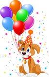 Filhote de cachorro do aniversário ilustração stock