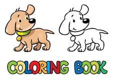Filhote de cachorro engraçado Livro de coloração Imagem de Stock