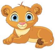 Filhote de leão pequeno de descanso Fotografia de Stock Royalty Free