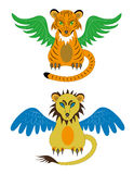 Filhote de tigre e leão novo ilustração do vetor