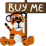 Filhote de tigre triste do brinquedo Foto de Stock Royalty Free