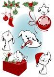Filhotes de cachorro do Natal ilustração stock