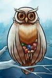 Filhotes de passarinho das economias da coruja do frio Imagem de Stock Royalty Free