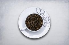 Filiżanek kawy fasoli pojęcie Fotografia Royalty Free