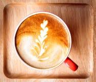 filiżanka świeża kawa espresso na stole, widok od above Zdjęcie Royalty Free