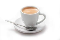Filiżanka świeża warząca kawa espresso Fotografia Royalty Free