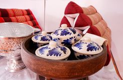 Filiżanka ceramiczny Tajlandzki styl zdjęcia royalty free