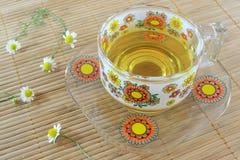 Chamomile herbaciana filiżanka obraz royalty free