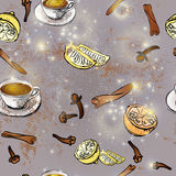 Filiżanka czarna herbata Zdjęcia Royalty Free