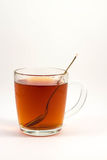 Filiżanka czarna herbata na białym tle Fotografia Royalty Free