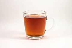 Filiżanka czarna herbata na białym tle zdjęcie stock