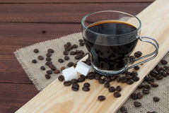 Filiżanka czarna kawa obrazy stock