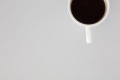 Filiżanka Strzelająca od Above Czarna kawa obraz stock