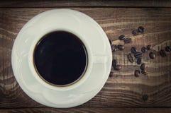 Filiżanka fragrant ranek kawa w białym kubku Obraz Stock