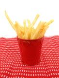 filiżanka francuz smaży grule czerwone Obraz Stock