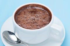Filiżanka gorąca czekolada, odgórny widok Zdjęcia Royalty Free