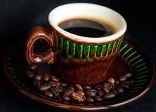 Filiżanka gorąca kawa espresso dla dobrego dnia Fotografia Stock