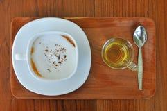 Filiżanka gorąca kawa i herbata Zdjęcie Royalty Free