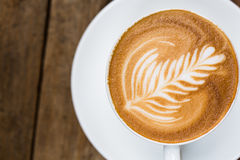 Filiżanka gorąca latte sztuki kawa Obraz Stock