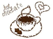 filiżanka gorącej czekolady Zdjęcie Stock