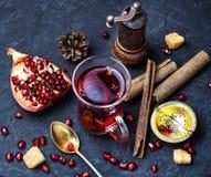 Filiżanka granatowiec herbata obraz stock