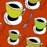 Filiżanka herbata, filiżanka kawy, łyżka Fotografia Royalty Free