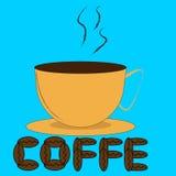 Filiżanka i kawowe fasole ilustracja wektor