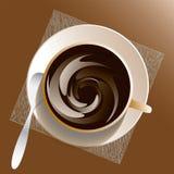 Filiżanka i sauser z kawą ilustracja wektor