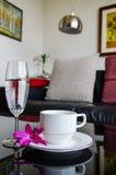 Filiżanka i wina wysoki szkło Obrazy Royalty Free