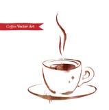 Filiżanka kawa espresso royalty ilustracja