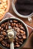 Filiżanka kawy i kawowe fasole zdjęcia stock