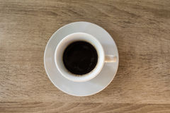 Filiżanka kawy na stole, śniadanie Obrazy Stock