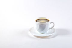 Filiżanka kawy z fasolą Zdjęcie Stock