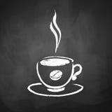 Filiżanka kawy z kawową fasolą ilustracja wektor
