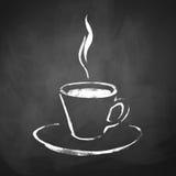 Filiżanka kawy z kontrparą Zdjęcie Stock