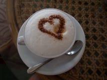 Filiżanka kawy z miłością zdjęcie stock