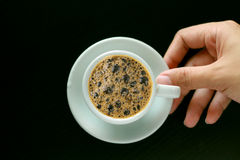 Filiżanka kawy z tłem Zdjęcie Royalty Free