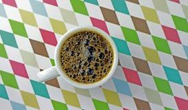 Filiżanka kawy z tłem Obrazy Royalty Free