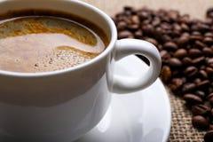 Filiżanka kawy, zakończenie Obraz Royalty Free