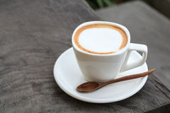 Filiżanka latte kawa obrazy royalty free
