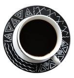 Filiżanka odizolowywająca na białym tle czarna kawa Obrazy Stock
