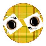 filiżanka okrągły stół dwa ilustracja wektor