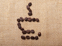 Filiżanka symbol kawowe fasole Obraz Stock