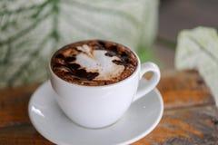 Filiżanka, tła Latte kawa obraz royalty free